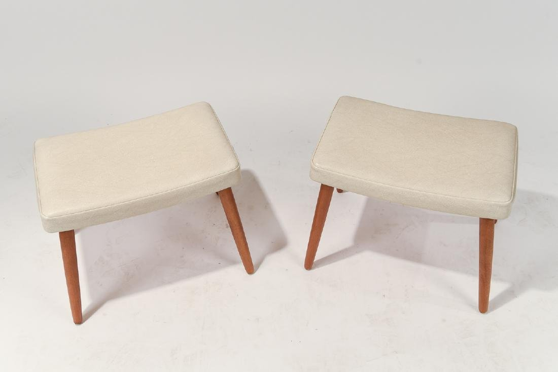 PAIR OF DANISH MID-CENTURY STOOLS - 2