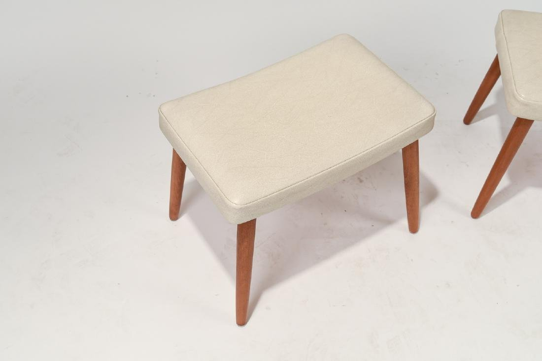PAIR OF DANISH MID-CENTURY STOOLS - 3