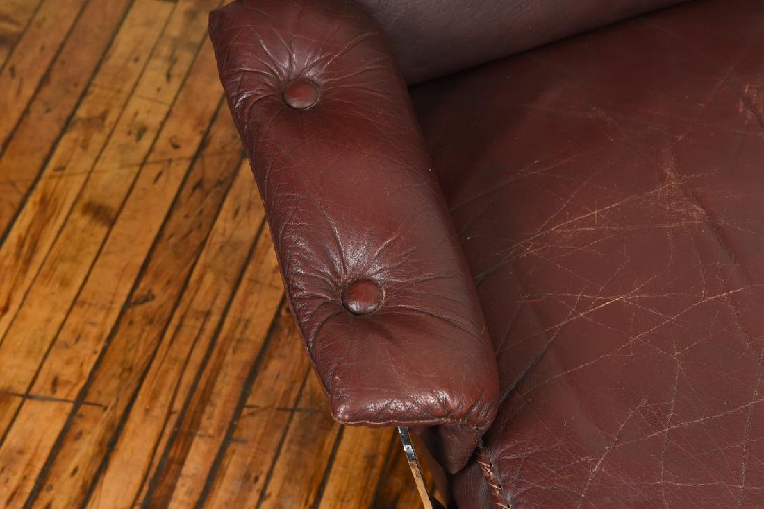 ARNE NORELL FOR VATNE MOBLER LEATHER LOUNGE CHAIR - 4