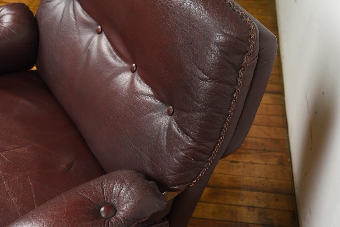 ARNE NORELL FOR VATNE MOBLER LEATHER LOUNGE CHAIR - 5