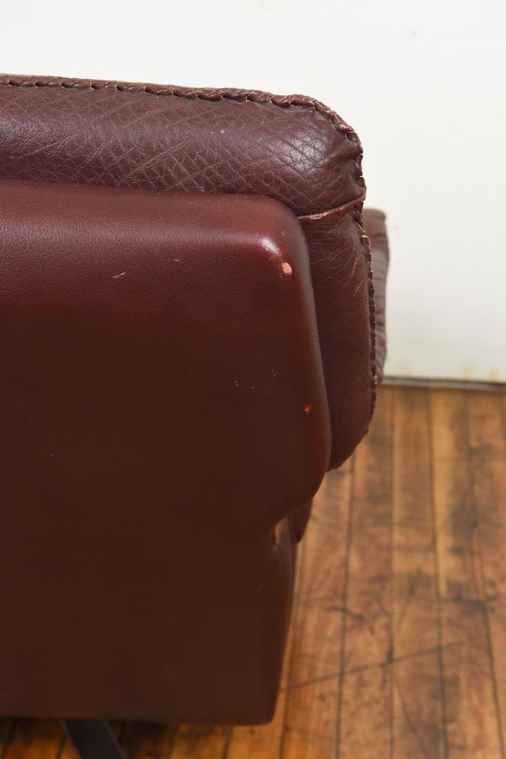ARNE NORELL FOR VATNE MOBLER LEATHER LOUNGE CHAIR - 8