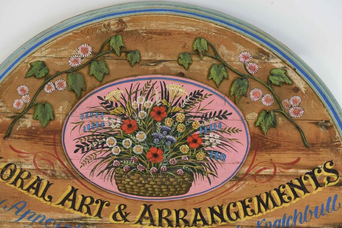 VINTAGE PAINTED FLORAL STORE SIGN - 2