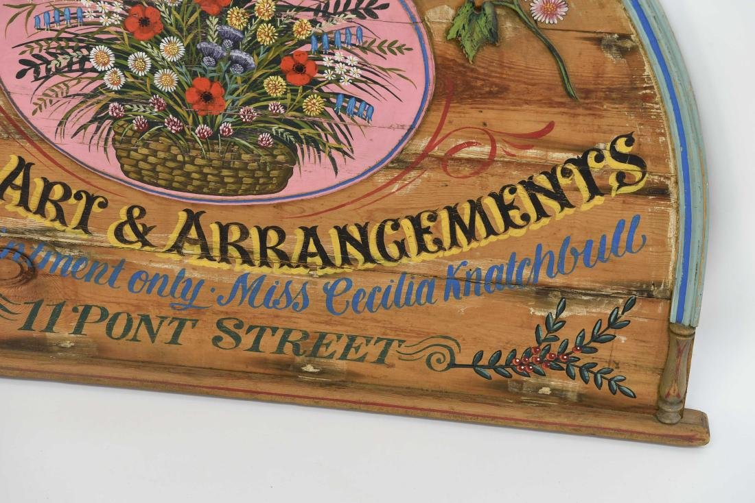 VINTAGE PAINTED FLORAL STORE SIGN - 4