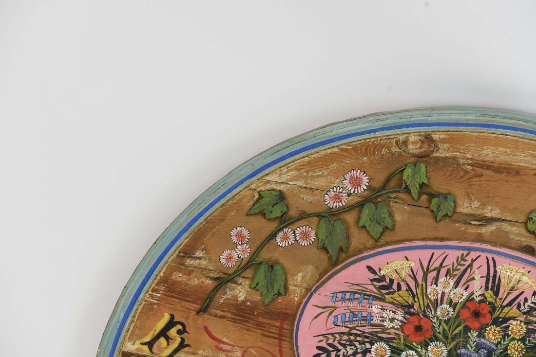 VINTAGE PAINTED FLORAL STORE SIGN - 6