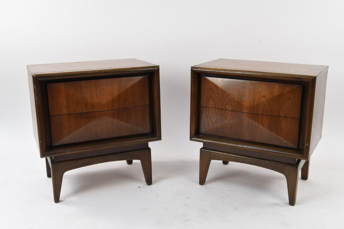 DIAMOND FRONT NIGHTSTANDS MANNER OF KAGAN
