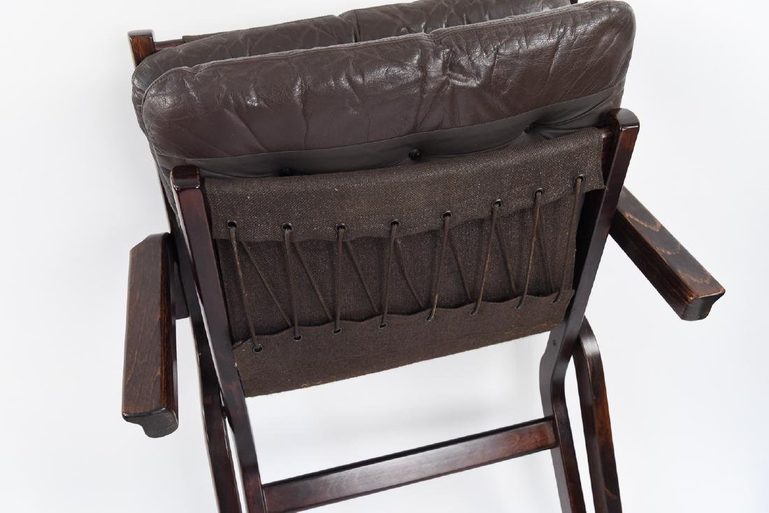 PAIR OF MID-CENTURY LEATHER DANISH EASY CHAIRS - 10