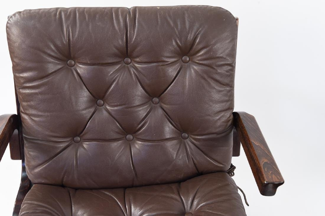 PAIR OF MID-CENTURY LEATHER DANISH EASY CHAIRS - 3