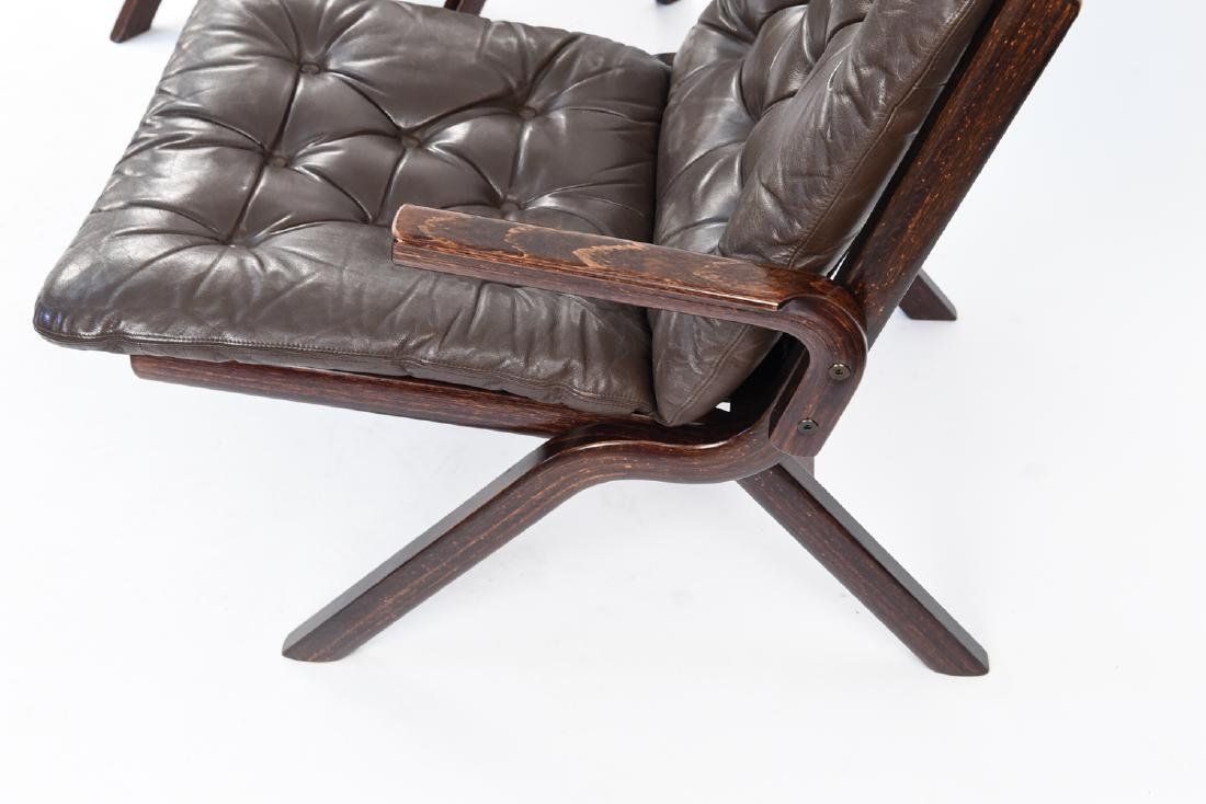 PAIR OF MID-CENTURY LEATHER DANISH EASY CHAIRS - 6