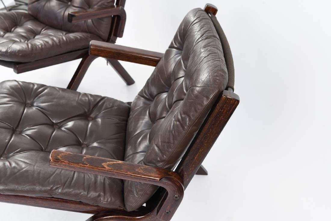 PAIR OF MID-CENTURY LEATHER DANISH EASY CHAIRS - 7