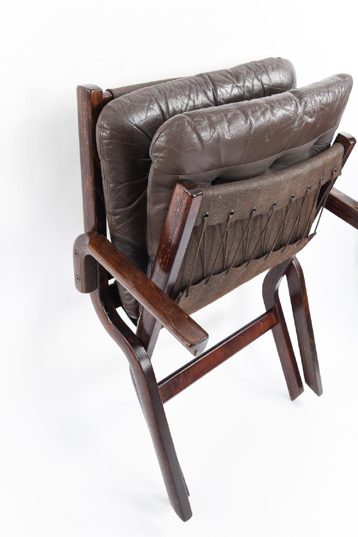 PAIR OF MID-CENTURY LEATHER DANISH EASY CHAIRS - 9