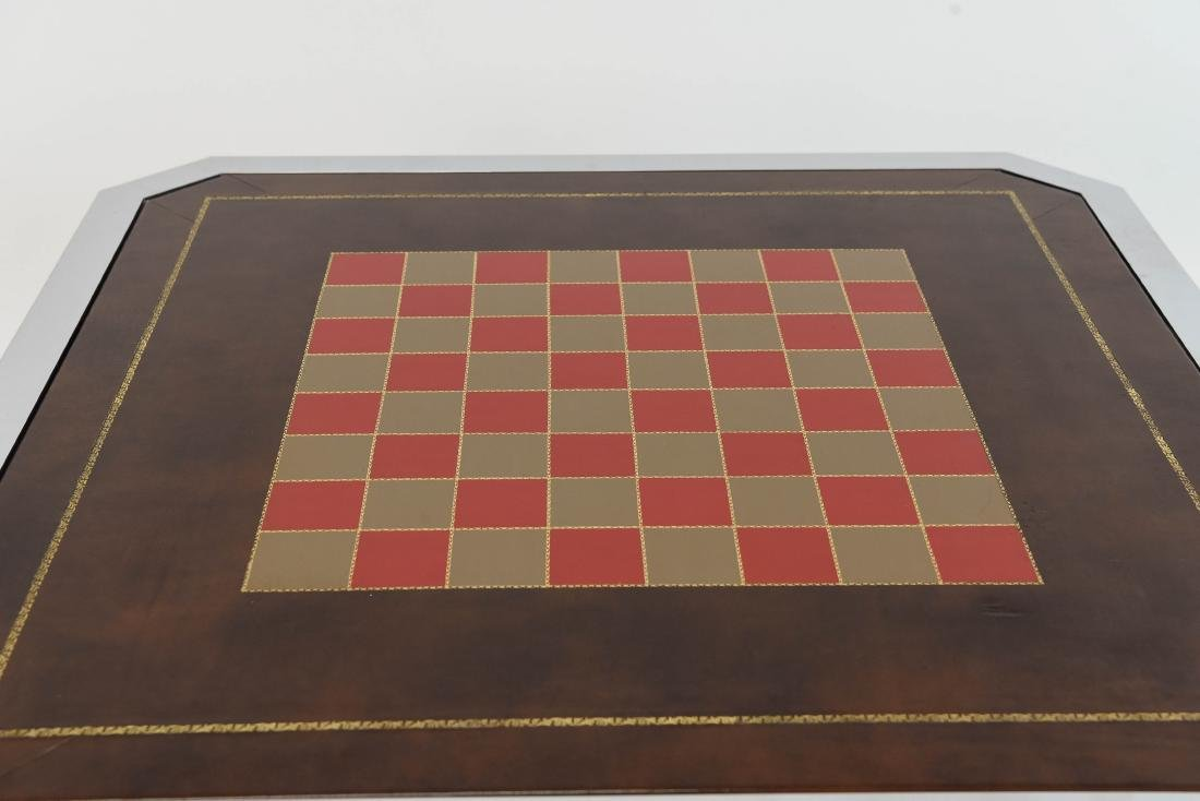 BRASS & CHROME CHESS GAMING TABLE - 3