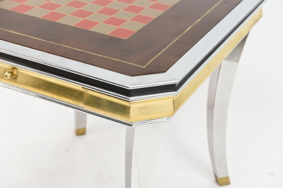 BRASS & CHROME CHESS GAMING TABLE - 6
