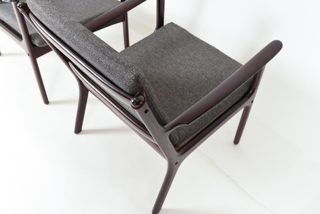 PAIR OF OLE WANSCHER MODEL PJ112 EASY CHAIRS - 9