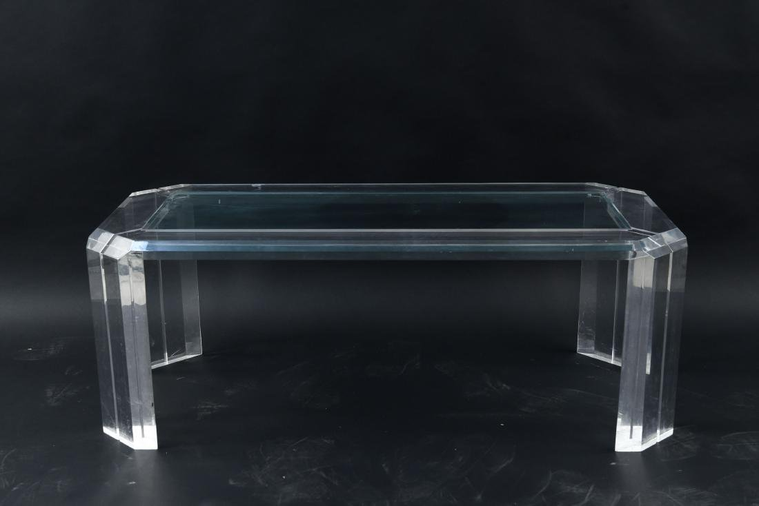 LUCITE COFFEE TABLE MANNER OF CHARLES HOLLIS JONES