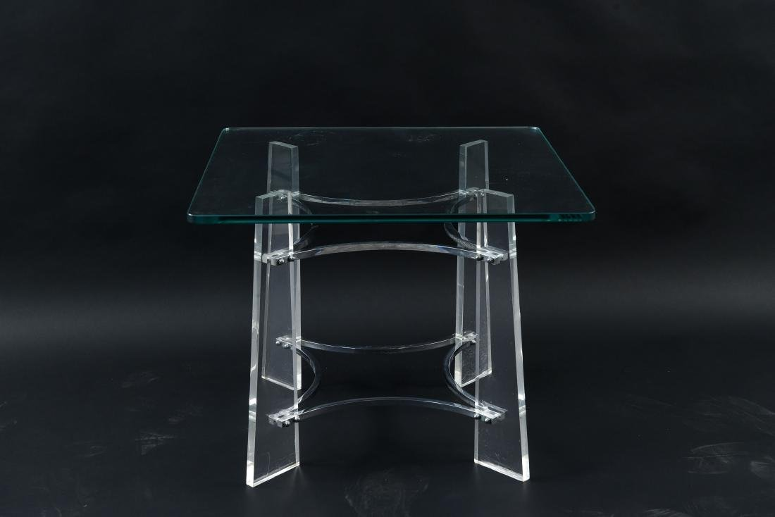 LUCITE SIDE TABLE MANNER OF CHARLES HOLLIS JONES