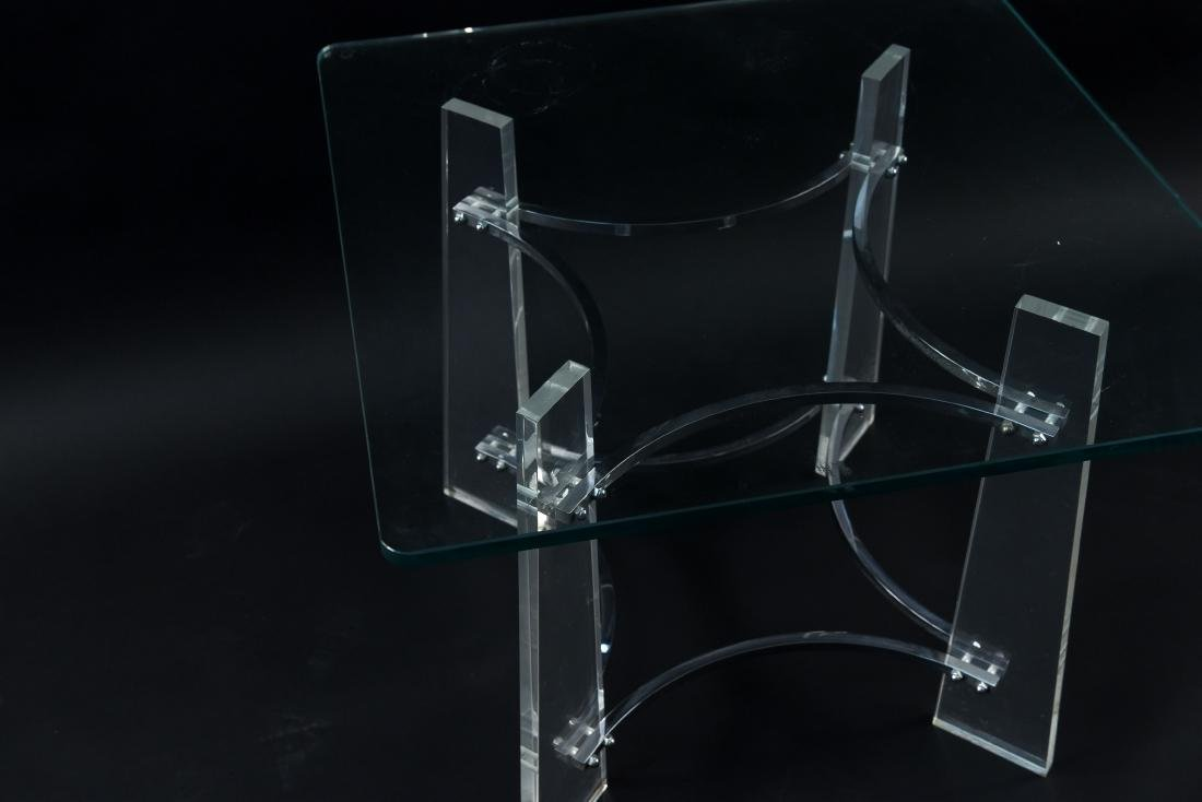 LUCITE SIDE TABLE MANNER OF CHARLES HOLLIS JONES - 7