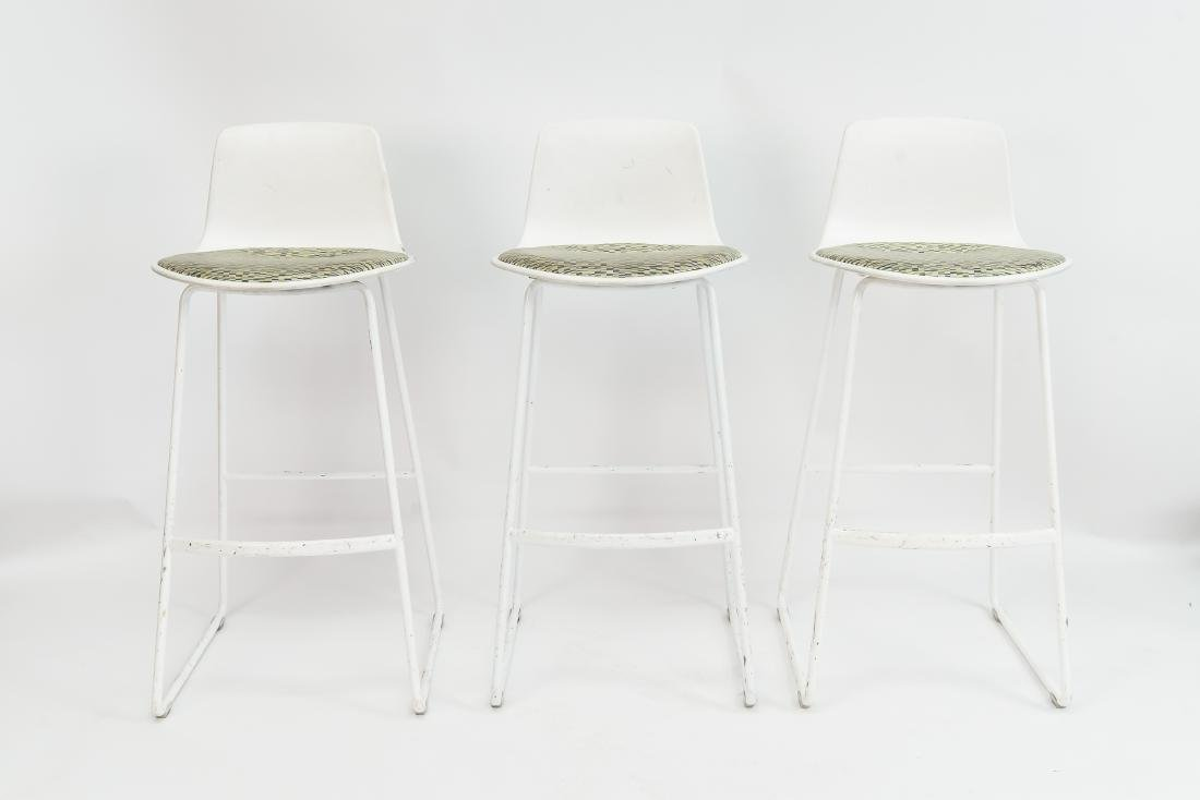 (3) STEELCASE BAR STOOLS