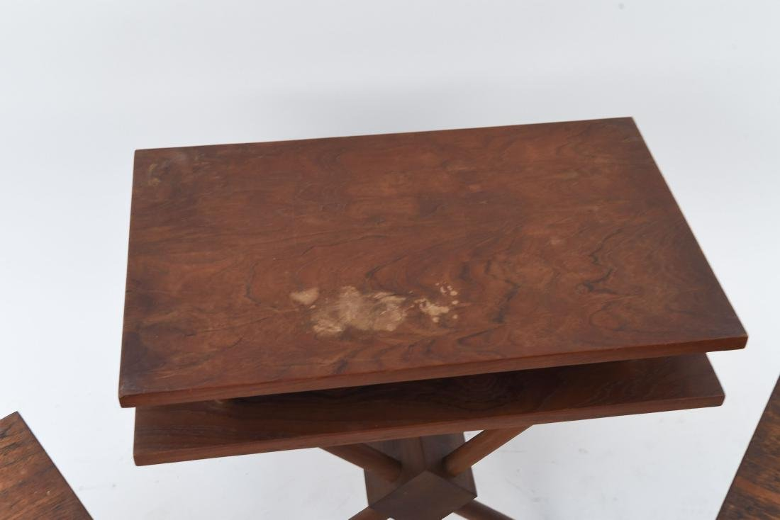 (3) MID-CENTURY WIDDICOMB STYLE WOODEN SIDE TABLES - 3