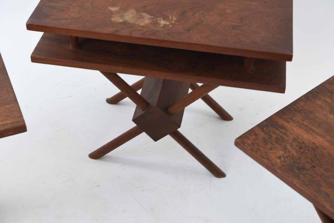 (3) MID-CENTURY WIDDICOMB STYLE WOODEN SIDE TABLES - 5