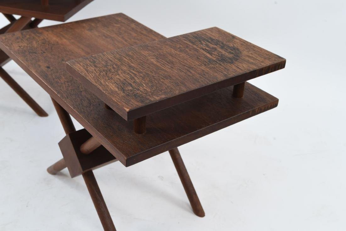 (3) MID-CENTURY WIDDICOMB STYLE WOODEN SIDE TABLES - 6