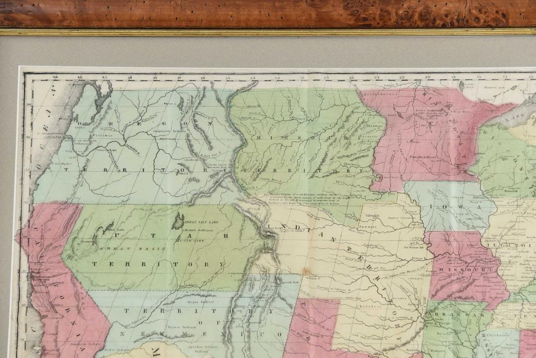 RARE 1852 CASE TIFFANY & CO. MAP OF U.S. - 2