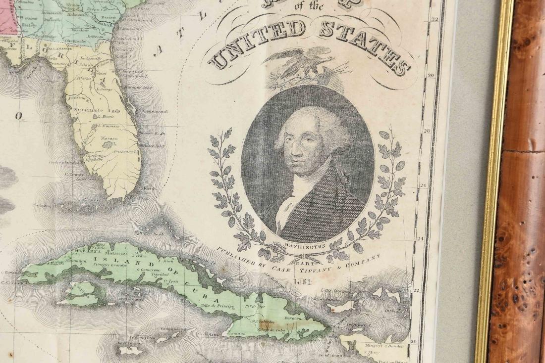RARE 1852 CASE TIFFANY & CO. MAP OF U.S. - 8