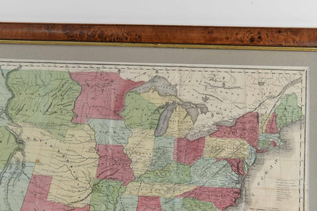 RARE 1852 CASE TIFFANY & CO. MAP OF U.S. - 9