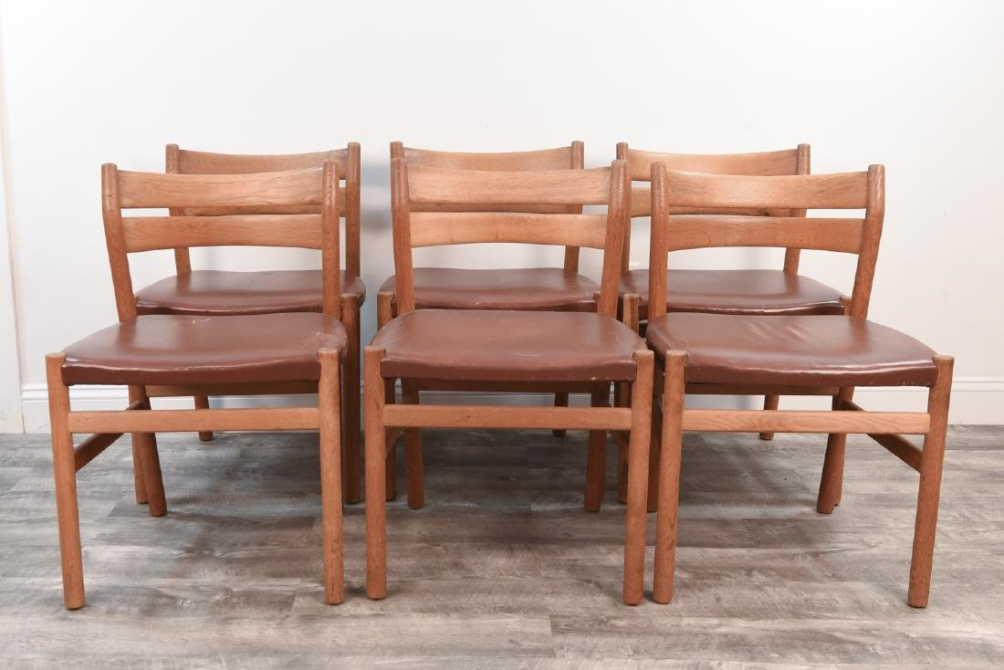 (6) DANISH BORGE MOGENSEN OAK DINING CHAIRS