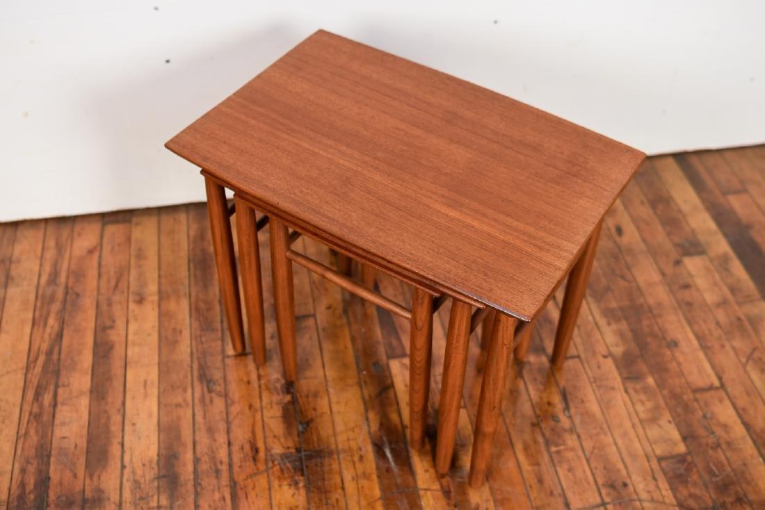 SET OF (3) DANISH TEAK NESTING TABLES - 6