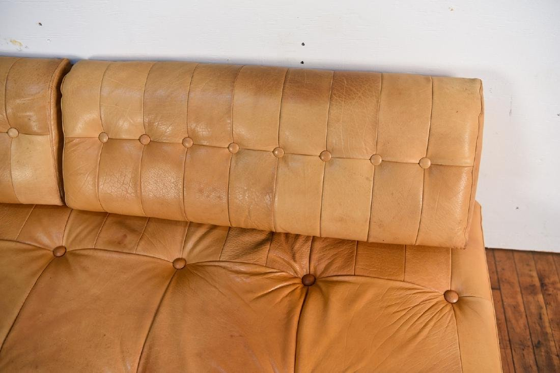 DE SEDE STYLE DANISH LEATHER SOFA / DAYBED - 7
