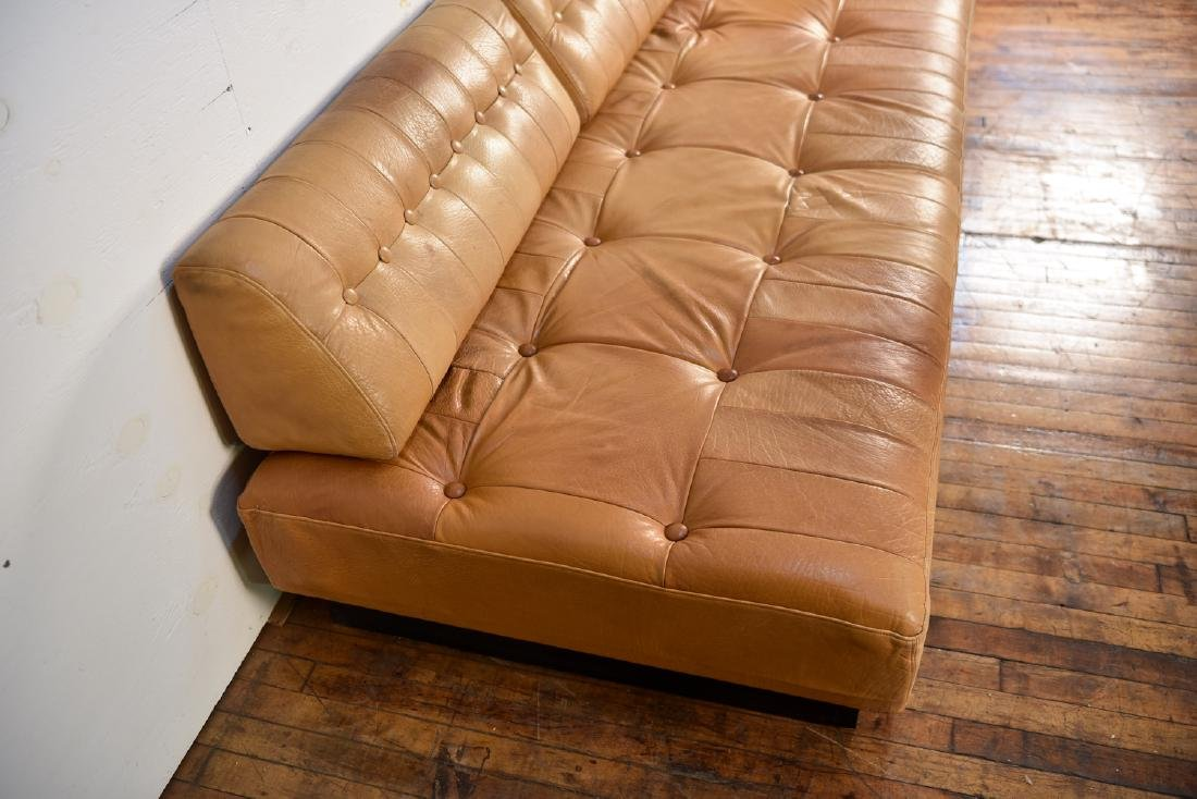 DE SEDE STYLE DANISH LEATHER SOFA / DAYBED - 8