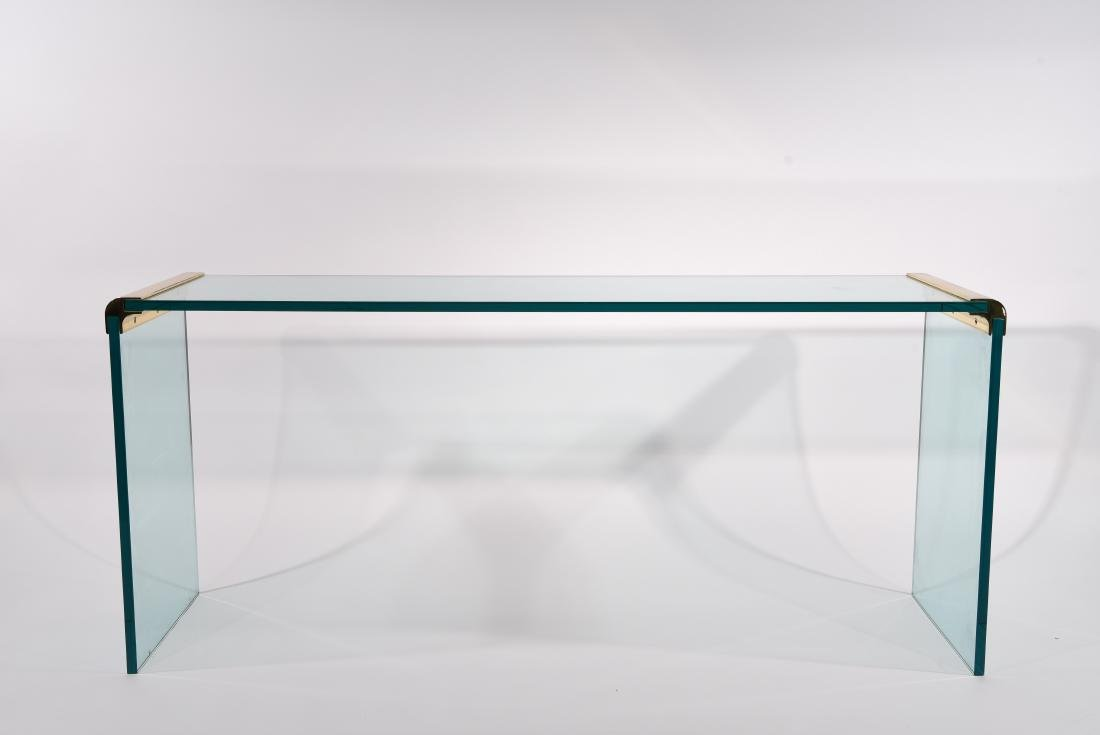 PACE GLASS CONSOLE TABLE