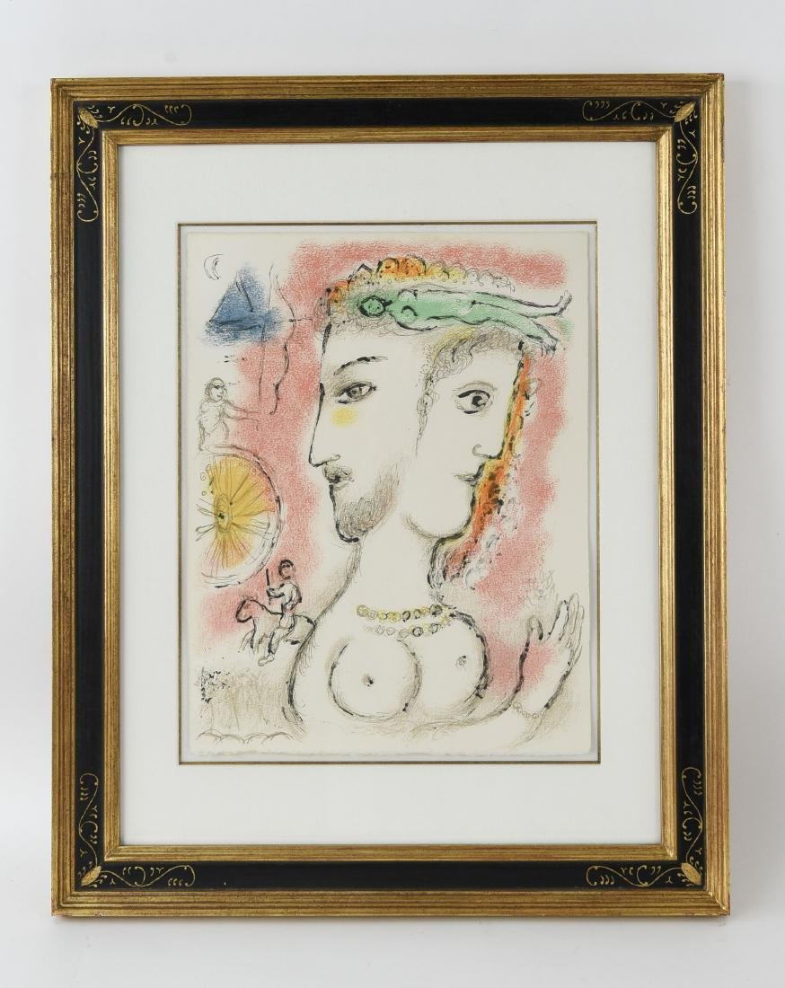 MARC CHAGALL LITHO FROM ODYSSEY II 1975