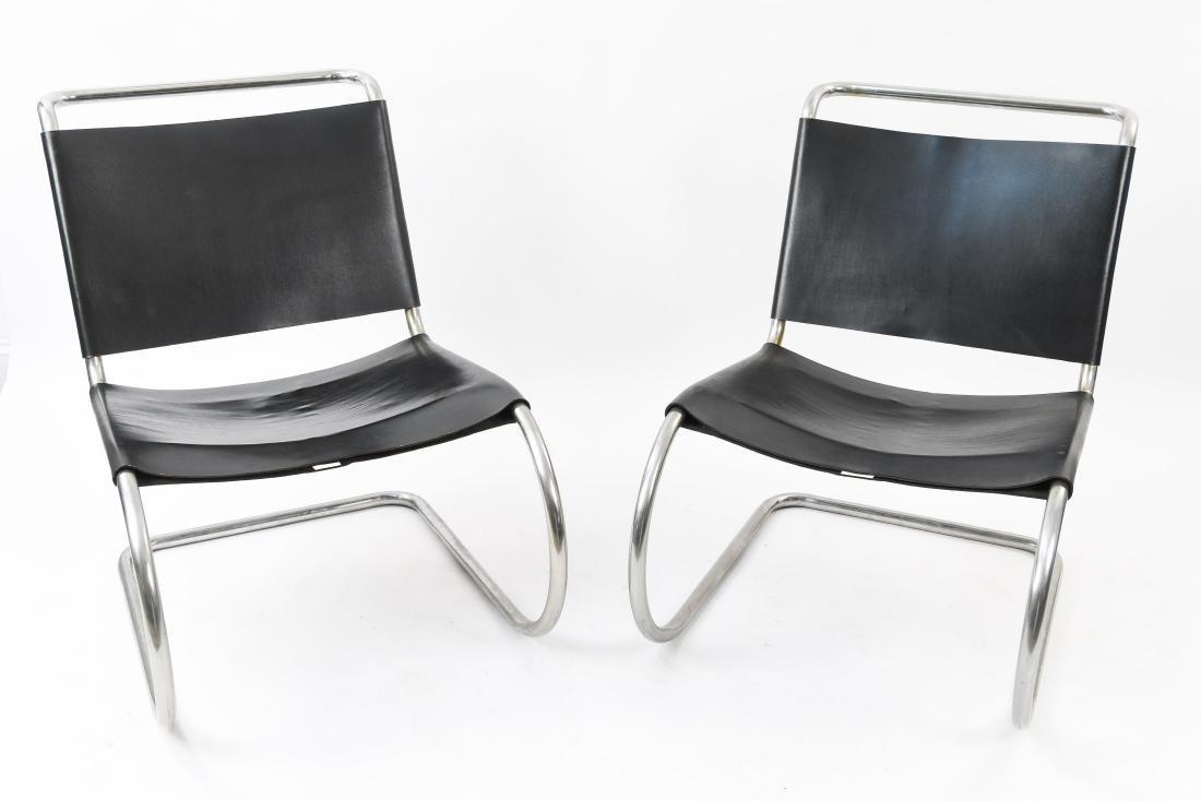 PAIR LOUNGE CHAIR BY MIES VAN DER ROHE FOR KNOLL