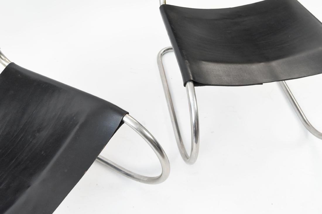 PAIR LOUNGE CHAIR BY MIES VAN DER ROHE FOR KNOLL - 4