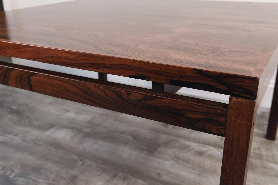 DANISH MID CENTURY ROSEWOOD COFFEE TABLE - 5