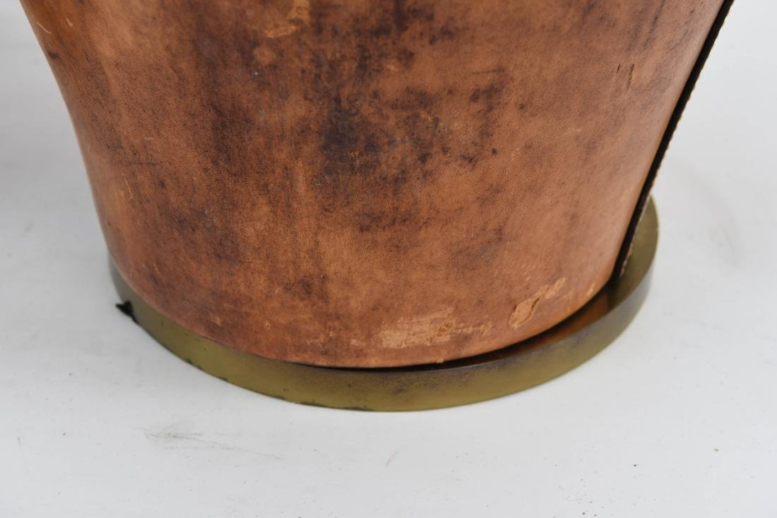 PAIR OF LEATHER CLAD LAMPS - 7