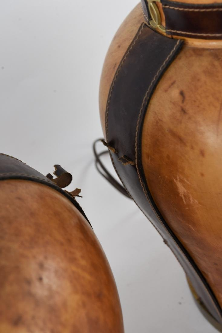 PAIR OF LEATHER CLAD LAMPS - 8