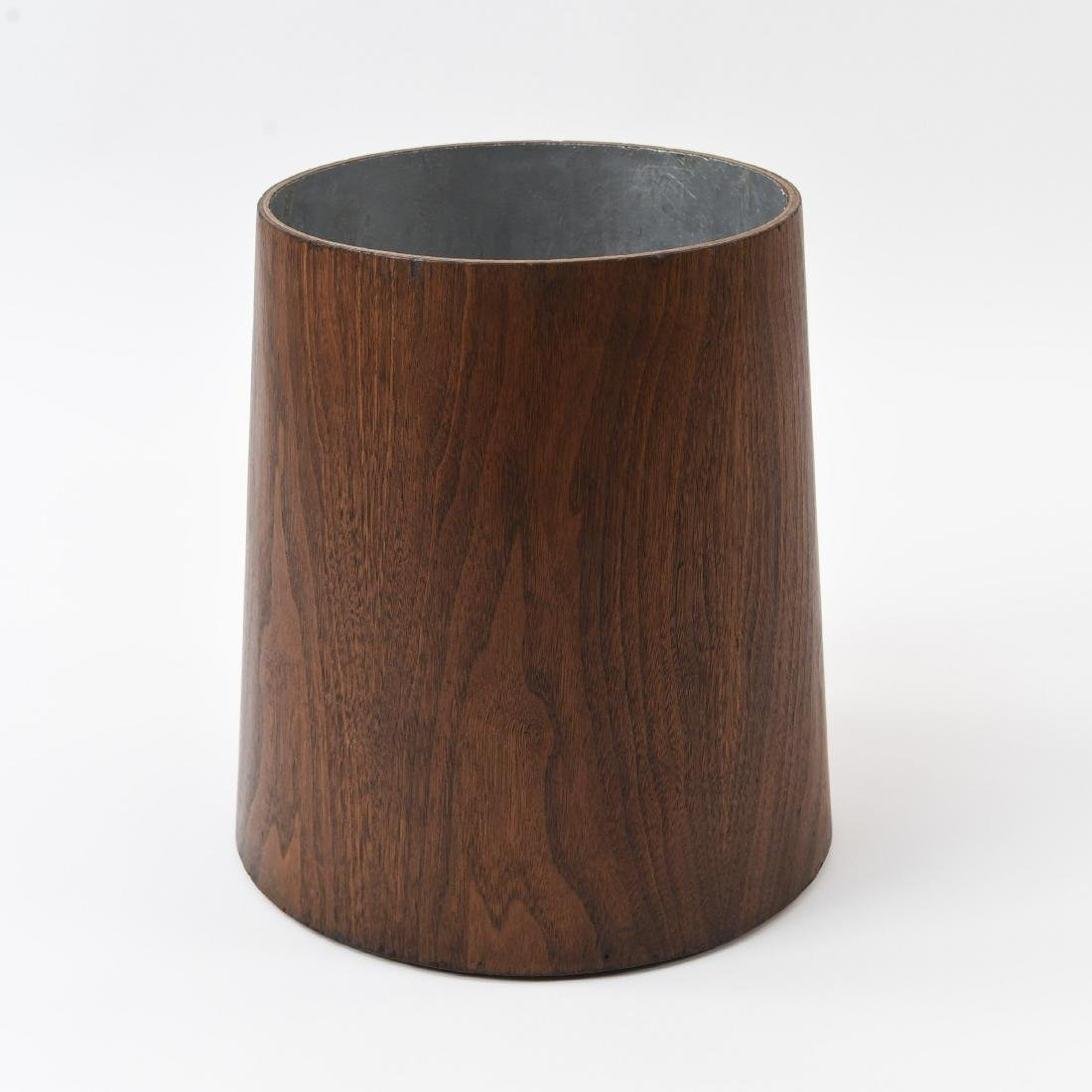 JENS RISOM REVERSE TAPERED WALNUT WASTE BASKET