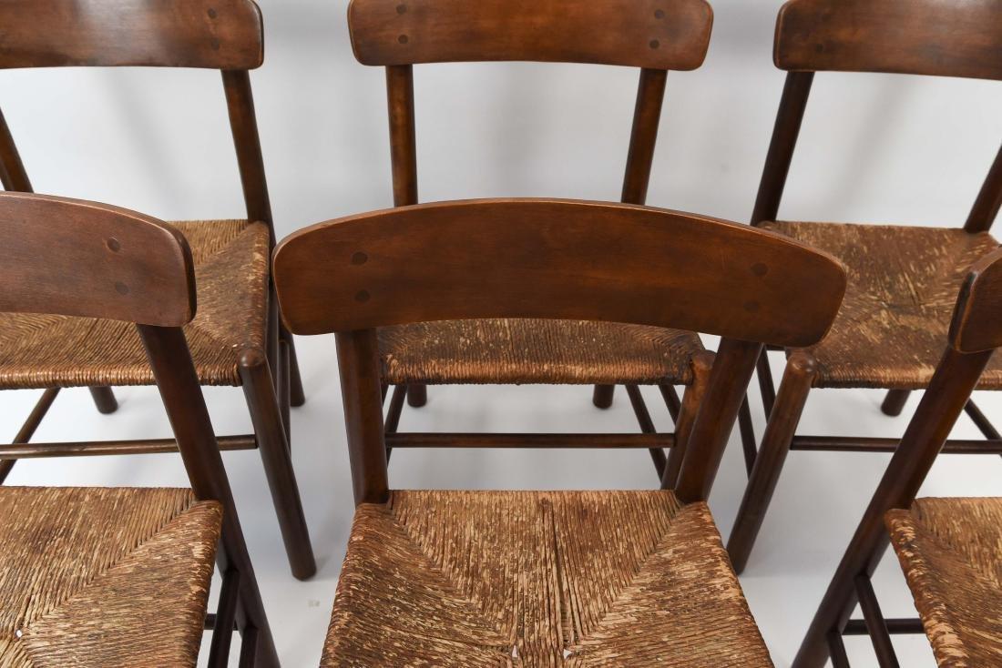 """(6) BORGE MOGENSEN """"SHAKER"""" CHAIRS W/ RUSH SEATS - 3"""