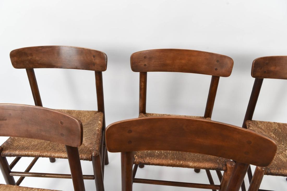 """(6) BORGE MOGENSEN """"SHAKER"""" CHAIRS W/ RUSH SEATS - 4"""