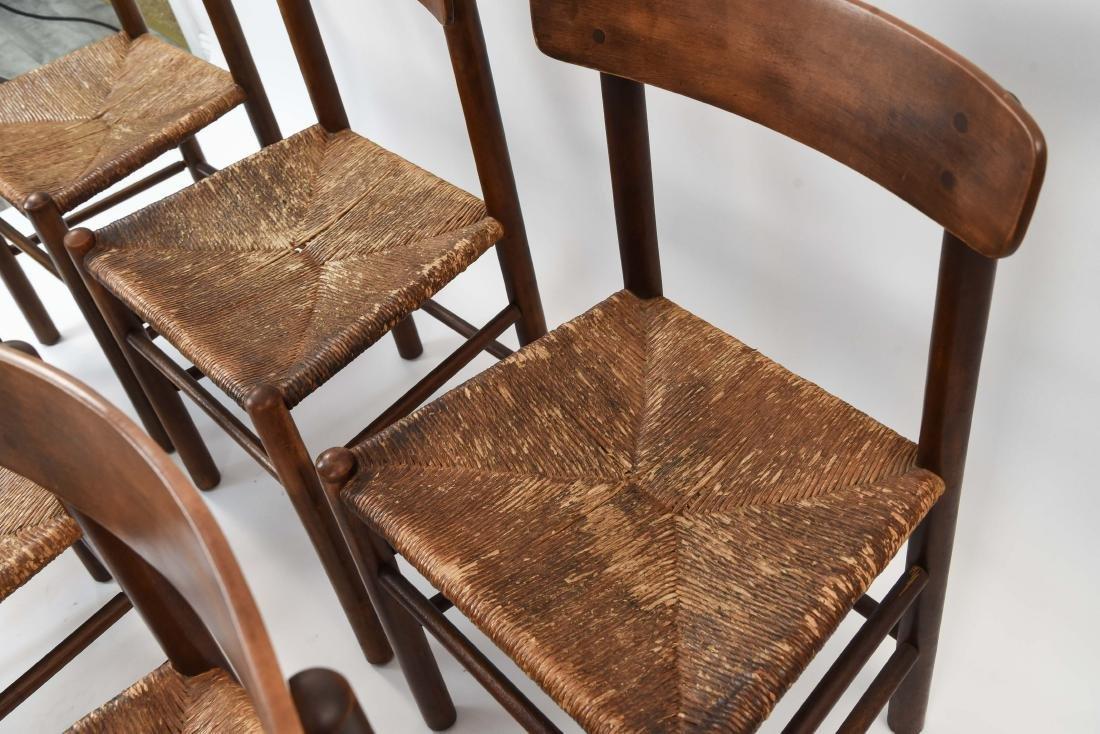 """(6) BORGE MOGENSEN """"SHAKER"""" CHAIRS W/ RUSH SEATS - 8"""