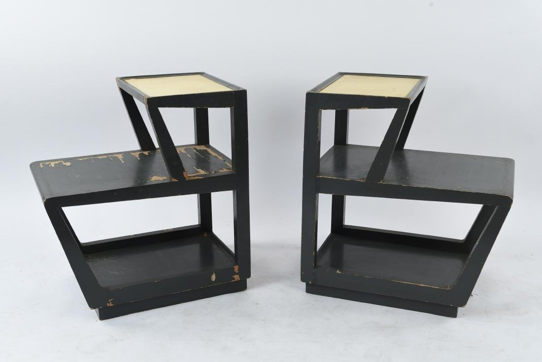 EDWARD WORMLEY FOR DREXEL STEP SIDE TABLES