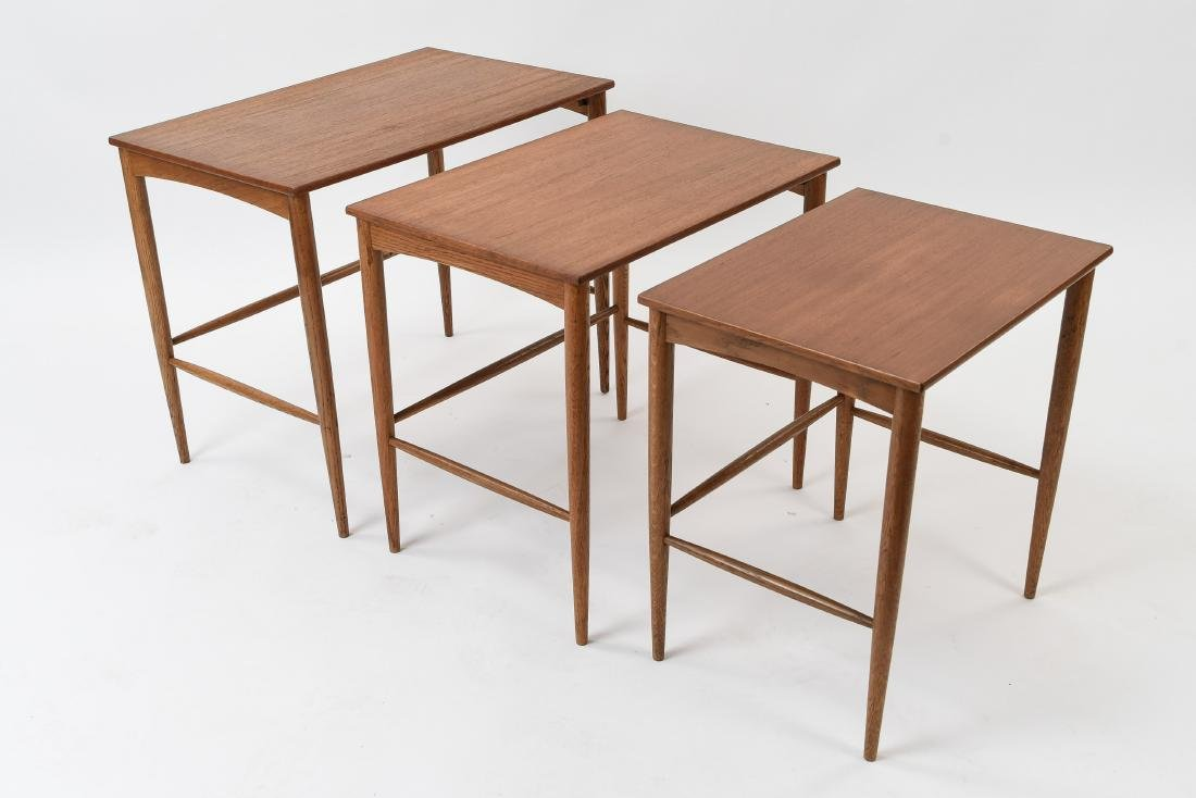 SET OF (3) SWEDISH NESTING TABLES BY DUX