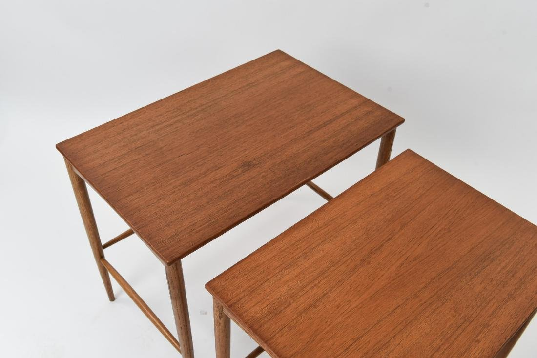 SET OF (3) SWEDISH NESTING TABLES BY DUX - 3