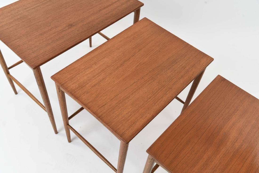 SET OF (3) SWEDISH NESTING TABLES BY DUX - 4