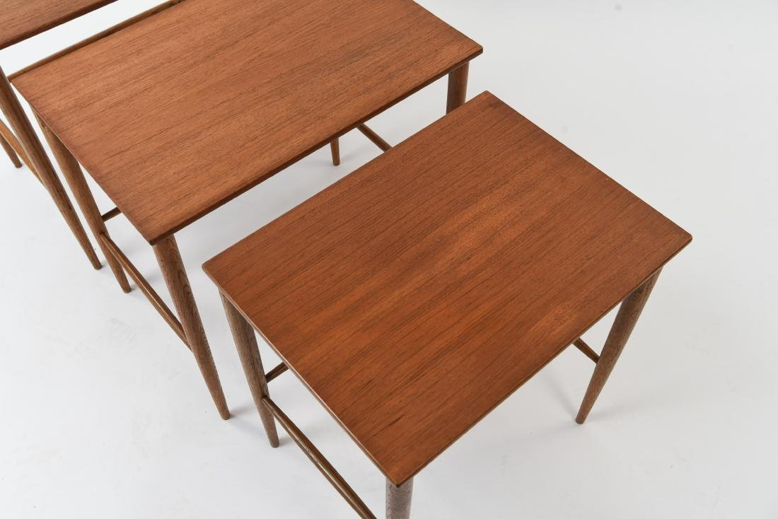 SET OF (3) SWEDISH NESTING TABLES BY DUX - 5