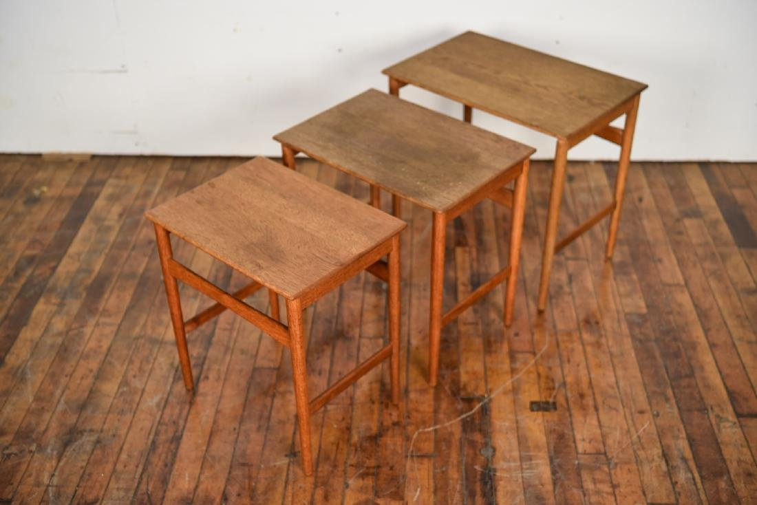 SET OF (3) HANS WEGNER ANDREAS TUCK NESTING TABLES - 3
