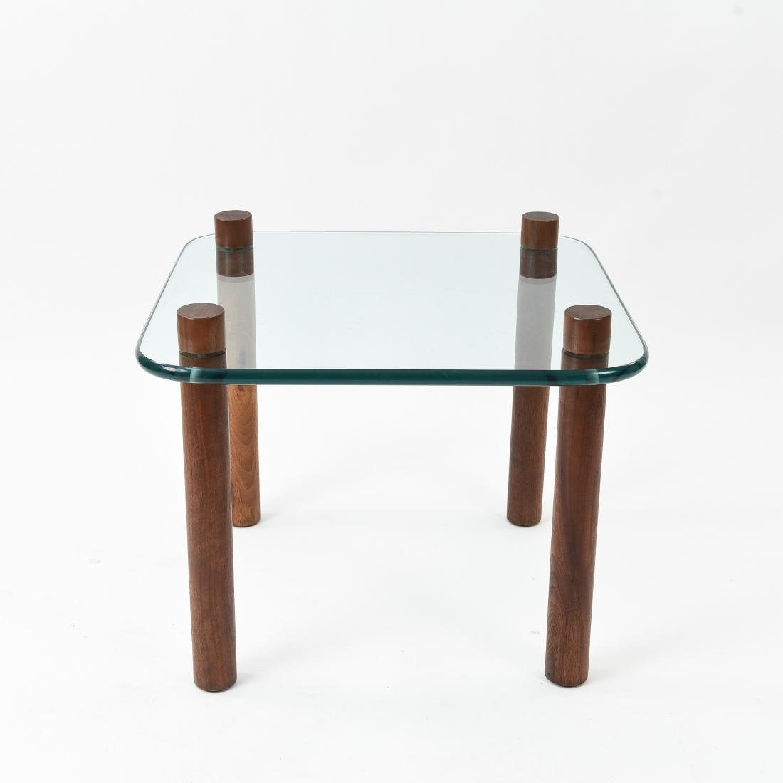 ATTR. JENS QUISTGAARD GLASS TOP SIDE TABLE