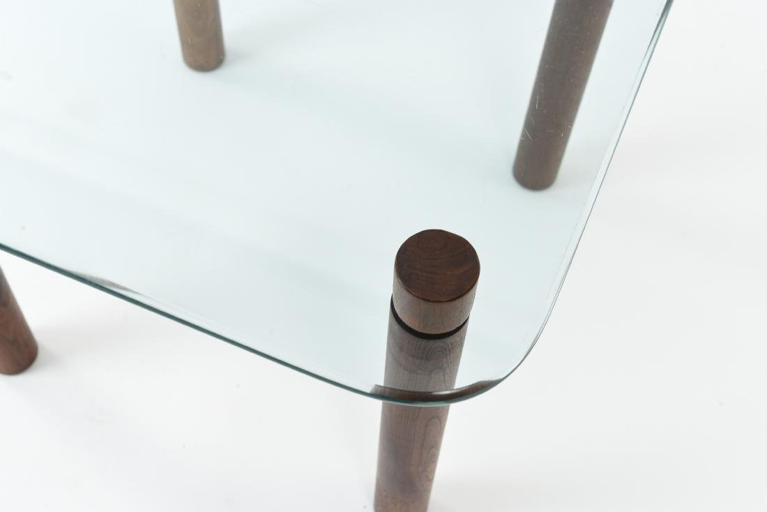 ATTR. JENS QUISTGAARD GLASS TOP SIDE TABLE - 2